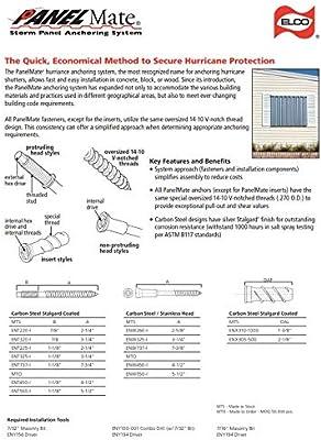 Amazon com: ELCO Panelmate Pro Storm Panel Anchors 2-1/4