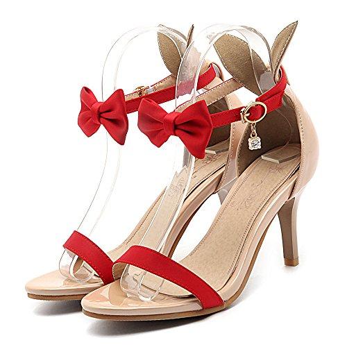 Eclimb Donna Sera Tacchi Alti Open Toe Piattaforma Cinturino Alla Caviglia Casual Sandali A Spillo Stiletto Rosso