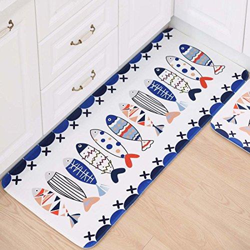 BABE MAPS Indoor Outdoor 2PCS Doormat Entrance Welcome Mat...