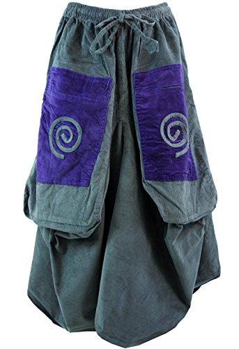 Cordrock Aladin Hosenrock grau / lange Röcke