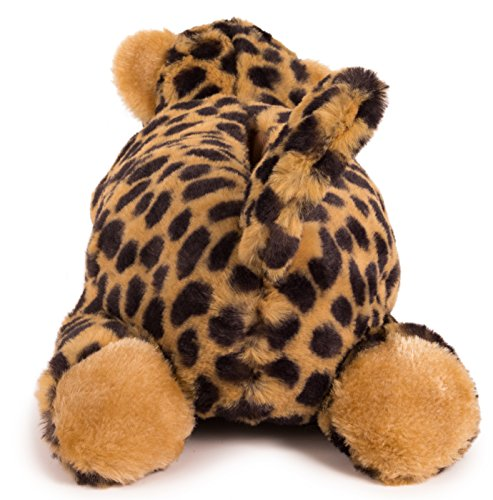 Luie Poten Volwassen Dieren Slippers - Maat Medium Alleen Cheetah