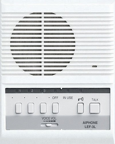 Aiphone LEM-3L Open Voice Selective Call Master Intercom with Door-Release Button, Accepts Up to Three Connecting Door, Sub-Master, or Master Intercoms
