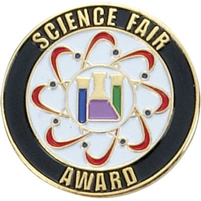 (1 Inch Science Fair Award Lapel Pin - Package of 12, Poly Bagged)
