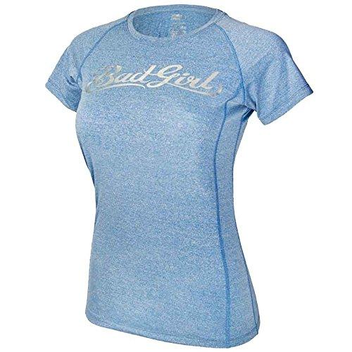 Camiseta de entrenamiento Bad Girl superior - mujer para deporte Azul azul
