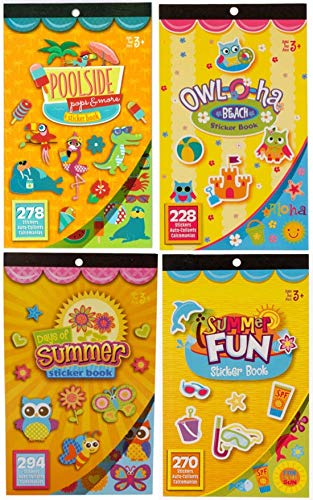 Summer Fun, Beach, and Poolside Sticker Books- Over 1,000 Stickers ()