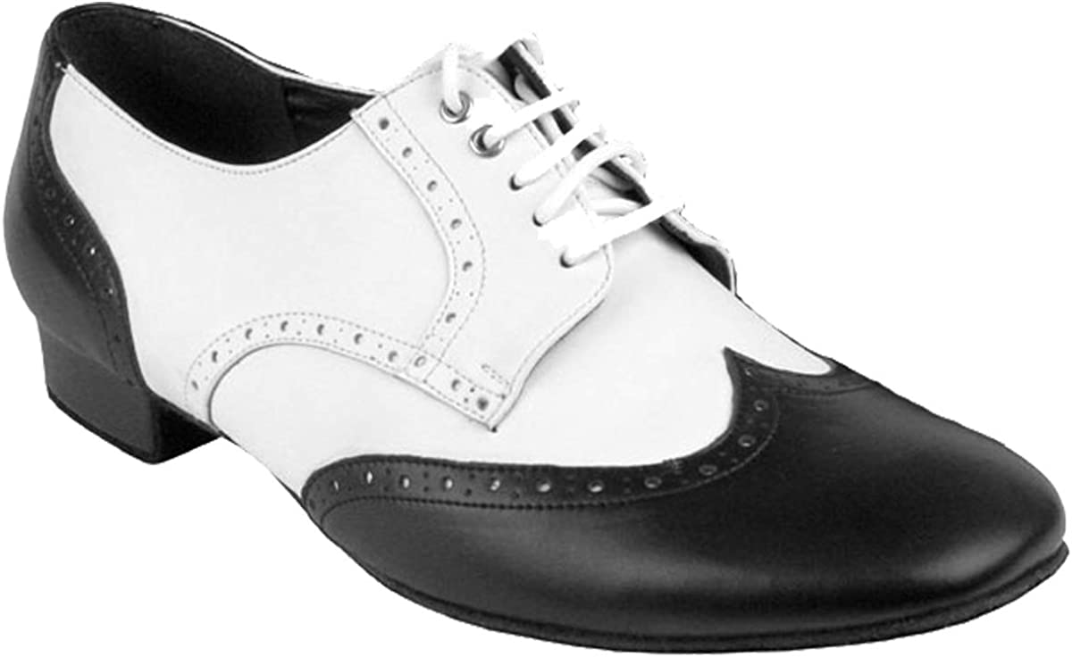 "2703 Silver Black Salsa Ballroom Latin Leather Dance Shoes 2.5/"" 3/""  Very fine"