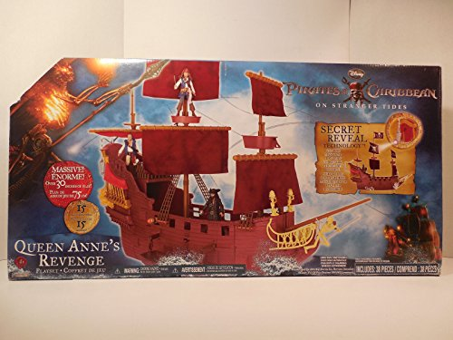 Pirates of the Caribbean 4 Queen Anne's Revenge Ship with Blackbeard Figure (Pirates Of The Caribbean Queen Annes Revenge Ship)