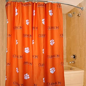Attractive College Covers Clemson Tigers Printed Shower Curtain Cover, ...