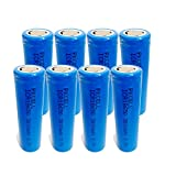 8PCS 3000mAh 3.7V Lithium ICR 18650 Li-Ion Rechargeable Battery PKCELL