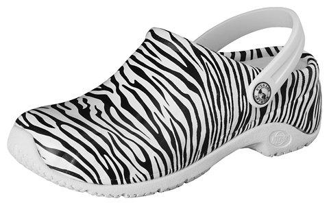 Anywear Women's Zone Work Shoe, Zebra Print, 11 M US