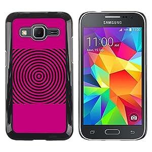 Be Good Phone Accessory // Dura Cáscara cubierta Protectora Caso Carcasa Funda de Protección para Samsung Galaxy Core Prime SM-G360 // Pink Sound Waves Music Disc Vinyl