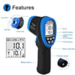 Infrared Thermometer,High Temp Thermometer Pyrometer -58?- 2732? (-50? to 1500?),30:1 Distance Spot Ratio,AP-2732 Non-Contact Digital Dual Laser Pointers and Flashlight FDA IR Temperature Gun