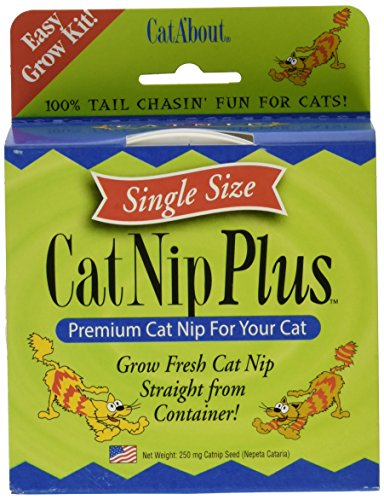Cat-A'bout Single-Cat CatNip Plus Tub 250 milligrams by MiracleCorp/Gimborn (Catnip Single)
