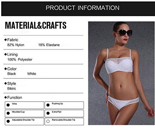 Traje de baño de las señoras Traje de dos piezas del bikiní atractivo del préstamo del acero de la manera Bikini Blanco