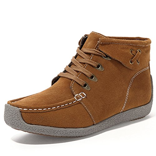 Always Pretty Women's Winter Outdoor Snow Boots Ankle Boot Snow Work Shoes US 8.5 Khaki
