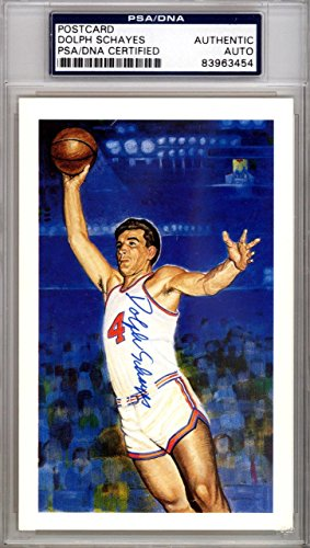 Dolph Schayes Autographed Signed HOF Postcard Syracuse Nationals #83963454 PSA/DNA Certified NBA Cut Signatures