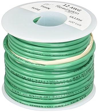 Remington Industries 12sldgrethhn50 12 Awg Gauge Solid Thhn Building Wire 600v 50 Length Green Amazon Com Industrial Scientific