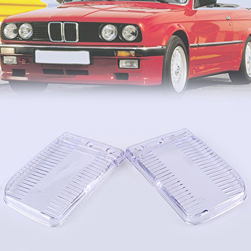 (Front Fog Lamps Lens Plastic Bumper Driving Projector Fog Lights Lens Cover For BMW 3 Series BMW E30 1985-1993 Left & Right)