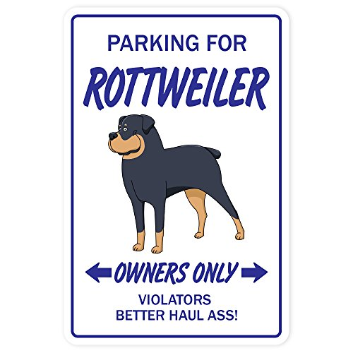 Rottweiler Aluminum Sign Dog pet Parking Guard Security Vet Breeder Kennel | Indoor/Outdoor | 10