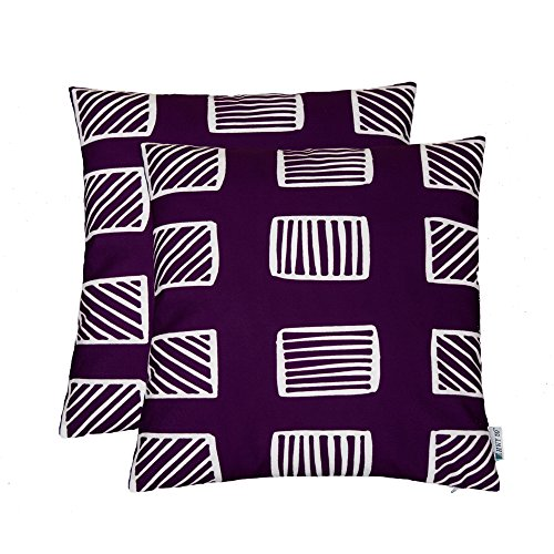 HWY 50 Pack Of 2 purple Pillow Case 45x45 inch Printed Polye
