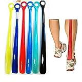 2 Plastic Shoehorns 18.5'' Extra Long Large Shoe Horn Handle Sturdy Flexible New