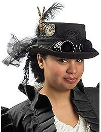 Black Deluxe Felt Steampunk Top Hat