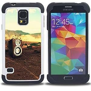 For Samsung Galaxy S5 I9600 G9009 G9008V - music sound DJ nature bass Dual Layer caso de Shell HUELGA Impacto pata de cabra con im??genes gr??ficas Steam - Funny Shop -
