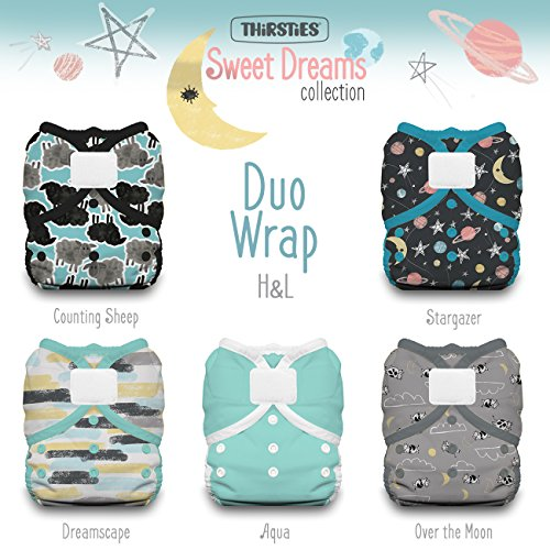 Thirsties Package, Duo Wrap Hook & Loop, Sweet Dreams Size 2