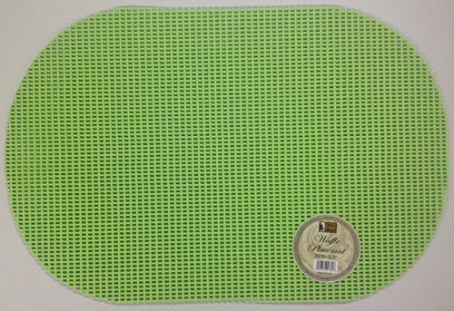 - Better Home 6 Waffle Weave Place Mats, Non Slip (Lime Green)