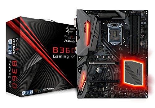 (ASRock B360 Gaming K4 LGA1151/Intel B360/DDR4/Quad CrossFireX/SATA3&USB3.1/M.2/GbE/ATX Motherboard)