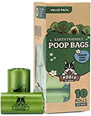 Pogi's Poop Bags - 10 Rolls (150 Dog Poo Bags) - Scented, Leak-Proof, Biodegradable Poo Bags for Dogs