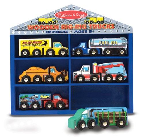 Melissa & Doug Wooden Big Rig Trucks