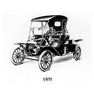 1911 Ford Model T Automobile Photo Poster