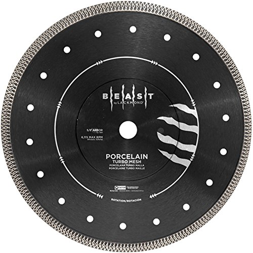 Lackmond Beast Pro 4.5'' Wet/Dry Porcelain Turbo Mesh Saw Blade - 4-1/2'' Tile Cutting Tool with Quick Cooling Mesh Rim & 7/8'' - 20mm - 5/8'' Arbor - BPM4.5 by Lackmond