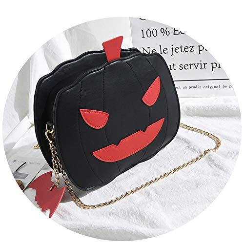 Women Wallet Handbag Creative Halloween Pumpkin Teenager Girls Crossbody Shoulder Bags,black