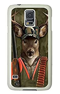 Samsung Galaxy S5 Case Samsung Galaxy S5 Cases Hunter Buck Deer Polycarbonate Hard Case Back Cover for Samsung Galaxy S5 White