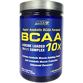MHP BCAA 10x Leucine Loaded 10:1:1 Complex, Lemonade, 10.6 Ounce