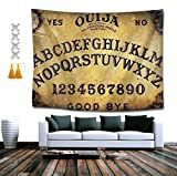 BOYOKO ME Dangerous Magical Game Ouija Board Wall Tapestry Hippie Art Tapestry Wall Hanging Home Decor Extra Large tablecloths 60x80 inches for Bedroom Living Room Dorm Room