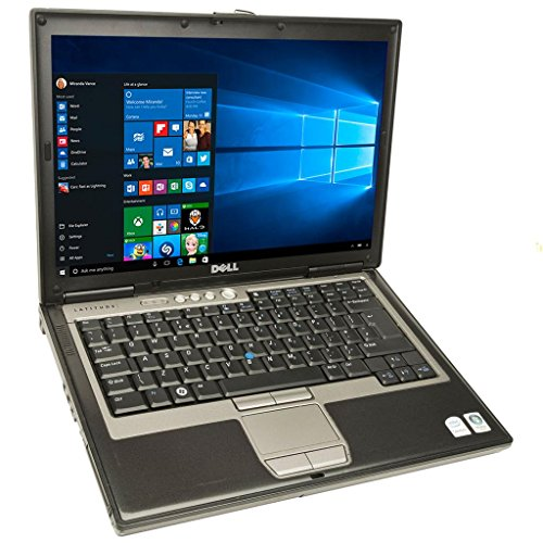Dell Latitude D620 Laptop Notebook - Core Duo 1.60GHz - 2GB DDR2 - 80GB - DVD+CDRW - Windows 10 Home 32bit - (Renewed) (Best Core 2 Duo Laptop)