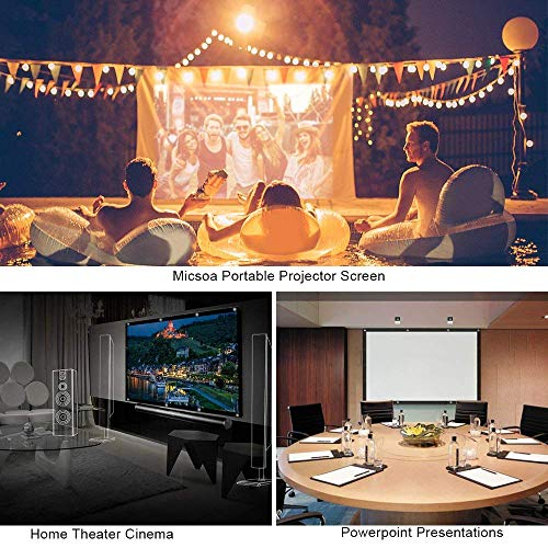 Portable Foldable Projector Screen, Home and Outdoor, Backyard and Camping Movie Theater