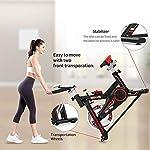 Cyclette-Spin-Bike-Sedile-Regolabile-Sensori-di-Pulsazioni-E-Monitor-LCD-Max-100-kg-per-Allenamento-Fitness