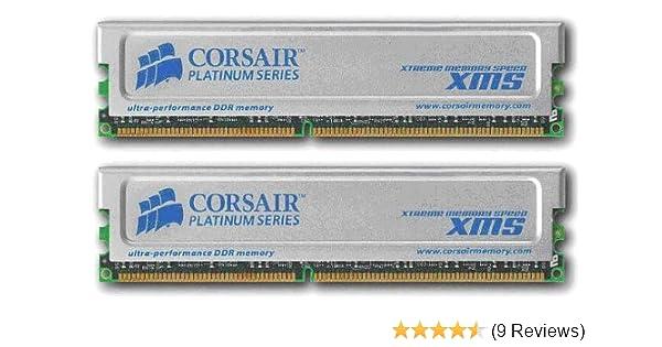 Corsair XMS 2GB (2x1GB) DDR 400 MHz (PC 3200) Desktop Memory