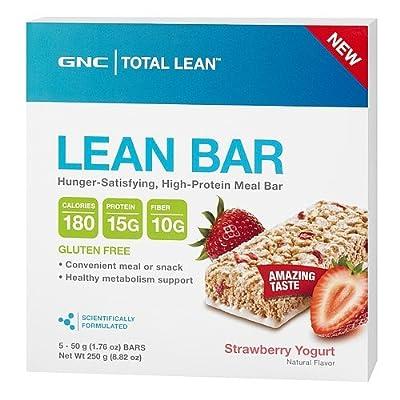 GNC Total Lean Lean Bar Strawberry Yogurt 5 bars