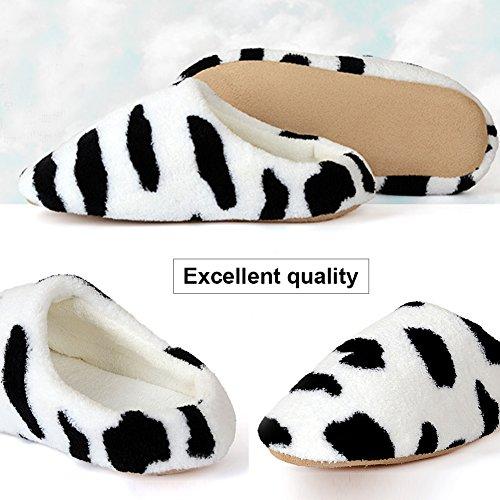 Home Woopower Soft Women Winter Warm Shoes Men Slippers Indoor Plush Milk gwEp0