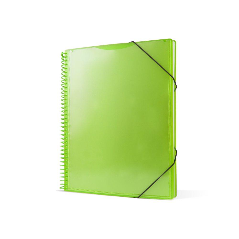 Pryse 4240054–Cartella spirale con 50buste, A4, colore: verde