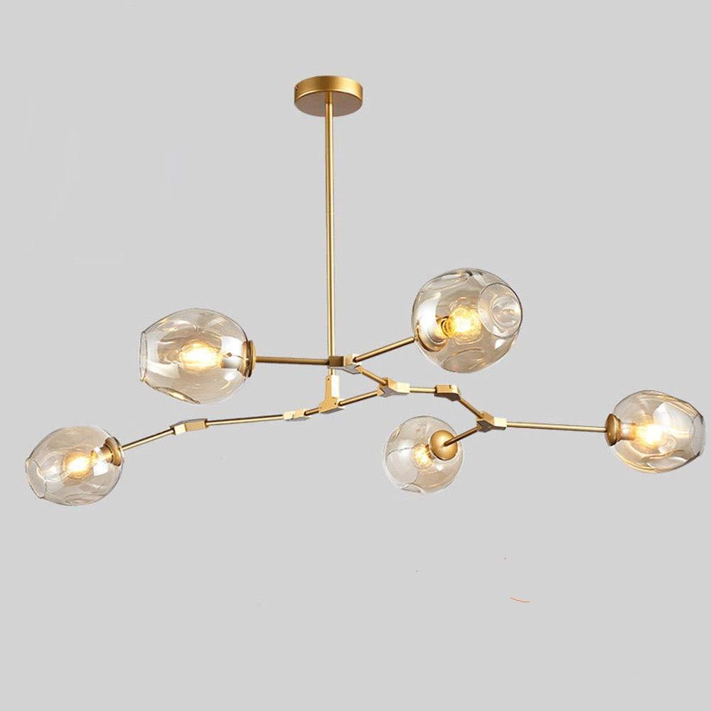 Amazon com thaisan7 glass led chandelier branching modern gold