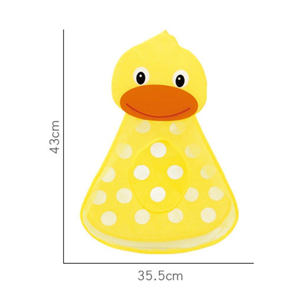 Fcostume Baby Badewanne Spielzeug Mesh Ente Aufbewahrungstasche Organizer Halter Badezimmer Organizer Gelb