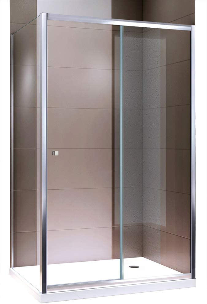 Cabina de ducha esquina ducha con puerta corredera Nano EchtGlas ex504 – Cristal transparente – 80 x 120 x 195 cm: Amazon.es: Hogar