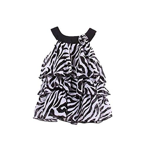 StylesILove Animal Chiffon Multi Layer Mini Cake Girl Dress