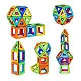 82 Pieces Magnetic Building Blocks Set Educational Stacking Tiles Creative Imagination Development Toys by WiAllFun
